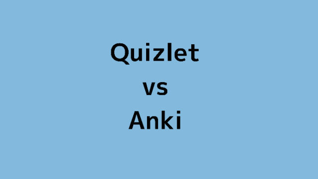 Anki vs Quizlet